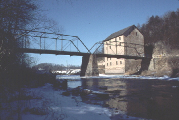 Motor Mill bridge  & snow